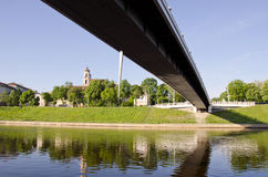 New bridge in Lithuanian capital Vilnius Stock Images