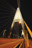 New bridge in the night Stock Photography