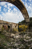 New bridge and old bridge with a small chapel at Karytaina, Pelo Stock Photography