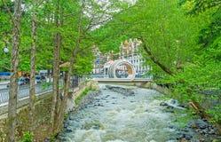 The new bridge over Borjomula river Stock Image