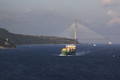 New bridge over the Bosphorus. Stock Photos