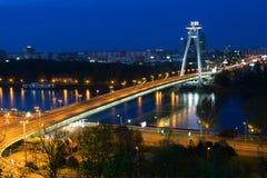 New Bridge over Danube River Royalty Free Stock Photos