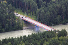 New bridge over the Katun river Royalty Free Stock Images