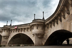 New bridge in Paris Royalty Free Stock Photography