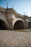 New bridge in Paris Stock Photography