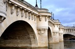 New bridge in Paris Royalty Free Stock Images