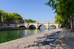 New bridge Paris Royalty Free Stock Photo