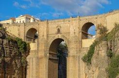 Puente Nuevo - Ronda. The New Bridge (Puente Nuevo) high above the El Tajo Gorge - Ronda, Andalusia, Spain royalty free stock photo