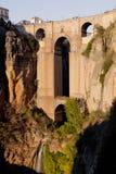 New bridge of Ronda. Bridge that divides the city of Ronda Royalty Free Stock Images