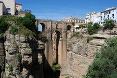 New Bridge, Ronda. New bridge (Puente Nuevo) viewed from West, Ronda, Malaga Province, Andalucia, Spain, Western Europe Royalty Free Stock Photos