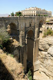 New bridge in Ronda in Málaga, Andalusia, Spain Royalty Free Stock Image