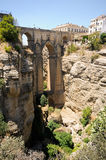 New bridge in Ronda in Málaga, Andalusia, Spain Royalty Free Stock Images