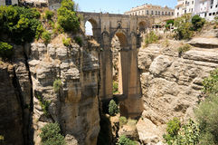 New bridge in Ronda in Málaga, Andalusia, Spain Stock Images