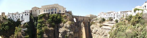 New Bridge at Ronda, Malaga, Andalucia Stock Photos