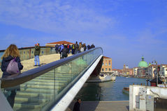 Modern bridge,Venice Stock Photography