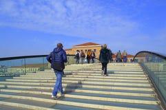 People on new footbridge,Venice Stock Images