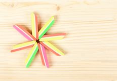 New bright erasers stock image