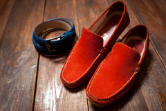 New bright footwear and a belt Royalty Free Stock Photography