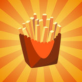 New bright french fries icon Royalty Free Stock Images