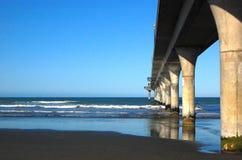 New Brighton concrete pier Christchurch Stock Photos