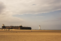 New Brighton Perch Rock Lighthouse and Fort Royalty Free Stock Photography