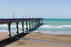 New Brighton Pier. Christchurch NZ. Royalty Free Stock Photos