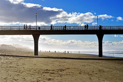 New Brighton Pier with people walking along the pier Royalty Free Stock Photography