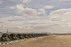 New Brighton Sea Defences Royalty Free Stock Photo