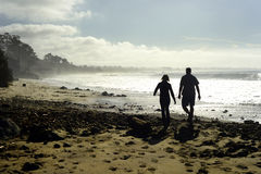 New Brighton State Beach and Campground, Capitola, California. Couple walking on The Beautiful New Brighton State Beach and Campground located in Capitola Royalty Free Stock Photography