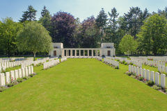 The New British Cemetery world war 1 flanders fields Royalty Free Stock Photography