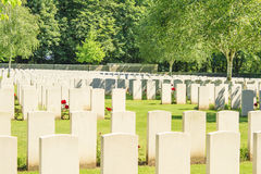 The New British Cemetery world war 1 flanders fields Stock Photo