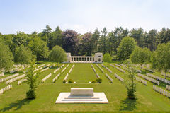 The New British Cemetery world war 1 flanders fields Royalty Free Stock Photos