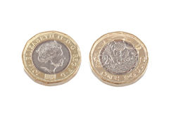 New British one pound coin. Stock Image
