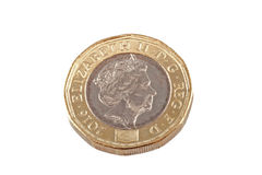 New British one pound coin. Royalty Free Stock Images