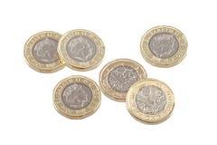 New British one pound coin. Stock Photos