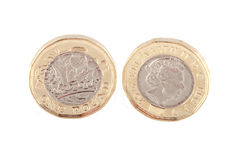 New British one pound coin. Stock Images