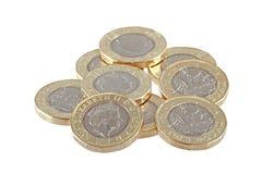 New British one pound coin. Stock Photo