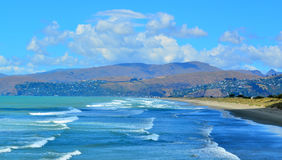 New Briton Beach Christchurch - New Zealand Stock Images