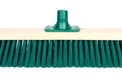 New broom for cleaning on white background Stock Image