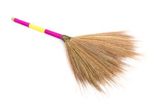 New broom grass isolated on white background Royalty Free Stock Photo