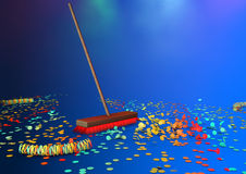 New brooms sweep clean Royalty Free Stock Photo