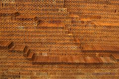 Brown bricks on construction site. New brown bricks on construction site Stock Images