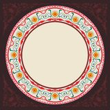 New 2015 brown decoratif islamic circular border Royalty Free Stock Photography