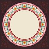 New 2015 brown decoratif islamic circular border Royalty Free Stock Photography