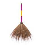 New brown nature broom. Studio shot isolated on white. Background stock photography