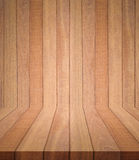 New brown wooden plank texture and background. For product display Royalty Free Stock Photos