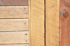 New brown wooden wall Stock Photography