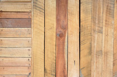 New brown wooden wall Stock Images