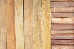 New brown wooden wall Royalty Free Stock Image