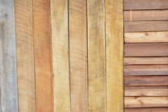 New brown wooden wall Royalty Free Stock Images